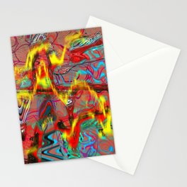 Oscillating Shapes I Stationery Cards