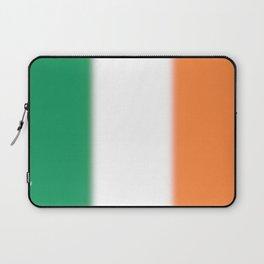 Green White and Orange Ombre Shaded Irish Flag Laptop Sleeve