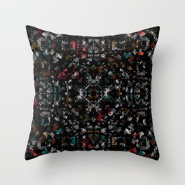 jewel tone mix glass and stone chip mosaic motif tile pattern boho mandala Throw Pillow