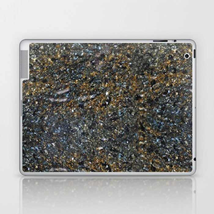 Black Gold Granite Laptop Ipad Skin