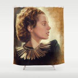 Elsa Lanchester, Vintage Actress Shower Curtain
