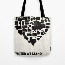 United We Stand - Black & White Tote Bag