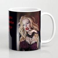 true blood Mugs featuring Pam de Beaufort of True Blood by Jaime Gervais