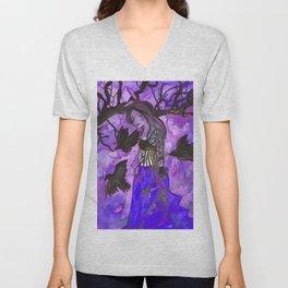 Raven Witch - Dark Violet Unisex V-Neck
