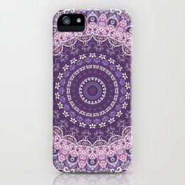 Purple Lace Mandala iPhone Case