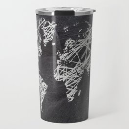 Scribble world map on chalkboard Travel Mug
