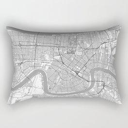 New Orleans Map Line Rectangular Pillow