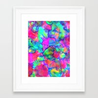 aurora Framed Art Prints featuring Aurora by Amy Sia