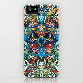 Bold Pattern Art - Color Fusion Design 8 By Sharon Cummings iPhone Case