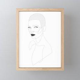 Lady Q3_2 Framed Mini Art Print