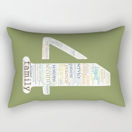 Life Path 4 (color background) Rectangular Pillow