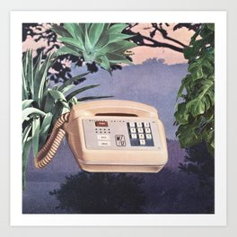 Late Nite Phone Talks Art Print
