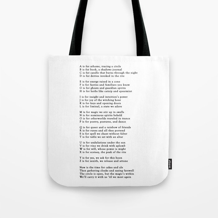 ABCs of Witchcraft Tote Bag
