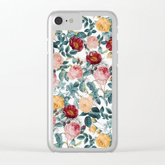 Vintage garden VI Clear iPhone Case