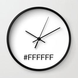 #FFFFFF White Wall Clock