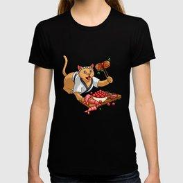 Cow Walking On Her Udder - Cat Sushi T-shirt