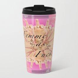 Femme as Fuck (ornate) Travel Mug