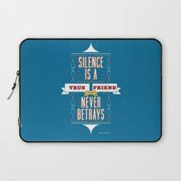 Silence Is Laptop Sleeve