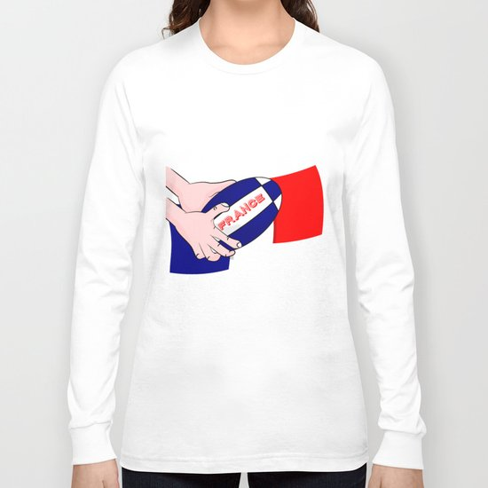 France Rugby Ball Flag Long Sleeve T-shirt