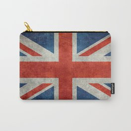 Union Jack flag, grungy retro 1:2 scale Carry-All Pouch