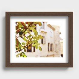 Village through wormholes - St Paul de Vence Recessed Framed Print