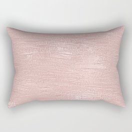 Metallic Rose Gold Blush Rectangular Pillow