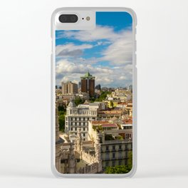 Madrid skyline Clear iPhone Case