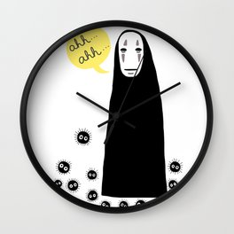 Spirited Away No Face Ahh..Ahh... Wall Clock