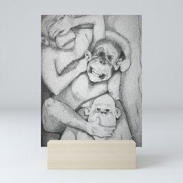 SeeNoEvilHearNoEvilTalkNoEvil Mini Art Print