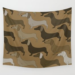 Dachshund Dogs Wall Tapestry