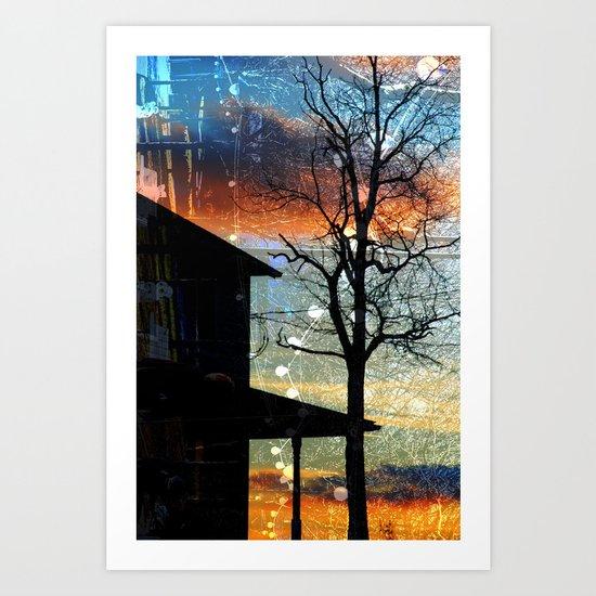 Winter Electric Art Print