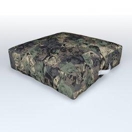 Ahegao camouflage Outdoor Floor Cushion