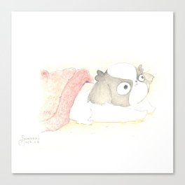 """Arale The Japanese chin """"WAKE UP!"""" Canvas Print"""