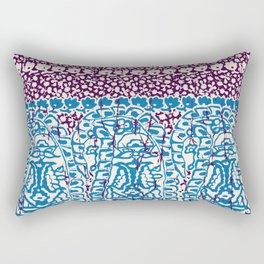 big paisley with floral lines on burgundy Rectangular Pillow