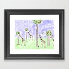 it ain't easy being a giraffe Framed Art Print