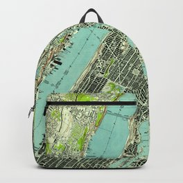 Vintage Central Park & Bronx NY Map (1947) Backpack