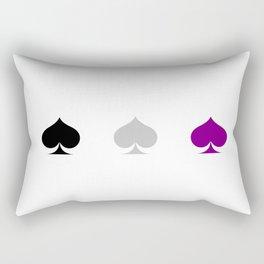 Ace Pride - Spades Rectangular Pillow