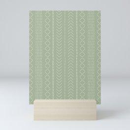 Stitchery - Moss green Mini Art Print