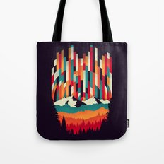 Sunset in Vertical Multicolor Tote Bag