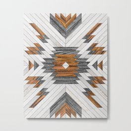 Urban Tribal Pattern 8 - Aztec - Wood Metal Print