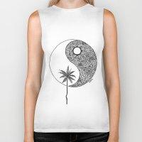 yin yang Biker Tanks featuring Yin Yang by KA Doodle