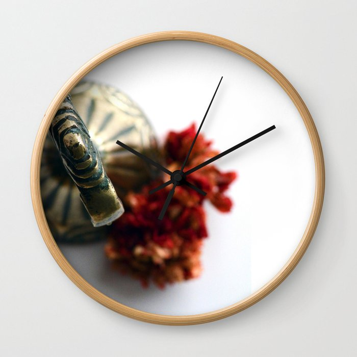 Flower bells in Wall Clock