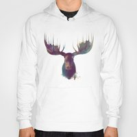 psychedelic art Hoodies featuring Moose by Amy Hamilton