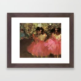 Dancers In Pink 1885 By Edgar Degas | Reproduction | Famous French Painter Framed Art Print