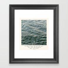 Set Sail (Franklin Delano Roosevelt Quote) Framed Art Print