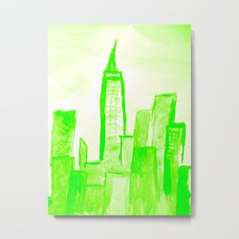 Green with Empire Metal Print