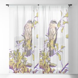 Mississippi Kite in Tree Sheer Curtain