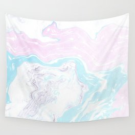 Colorful Waves Marbling Wall Tapestry