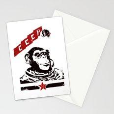 Soviet Space Monkey Stationery Cards
