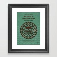 No494-1 My Pirates of the Caribbean I minimal movie poster Framed Art Print